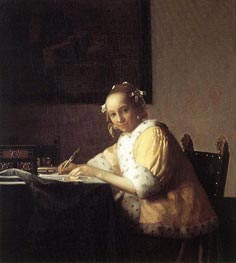 A Lady Writing a Letter | Vermeer | outdated
