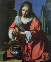 Saint Praxedis, 1655 by Vermeer | Painting Reproduction