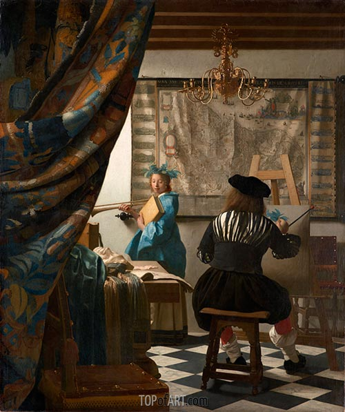 The Art of Painting (The Artist's Studio), c.1666/67 | Vermeer | Painting Reproduction