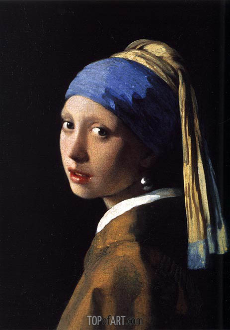 The Girl with a Pearl Earring, c.1665/66 | Vermeer | Gemälde Reproduktion