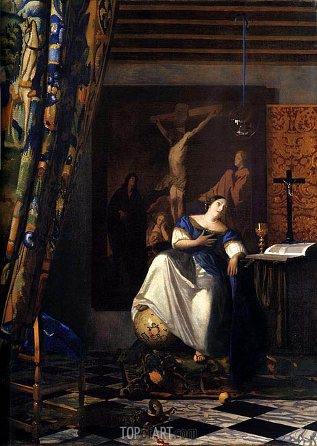 Allegory of Faith, c.1671/74 | Vermeer | Gemälde Reproduktion
