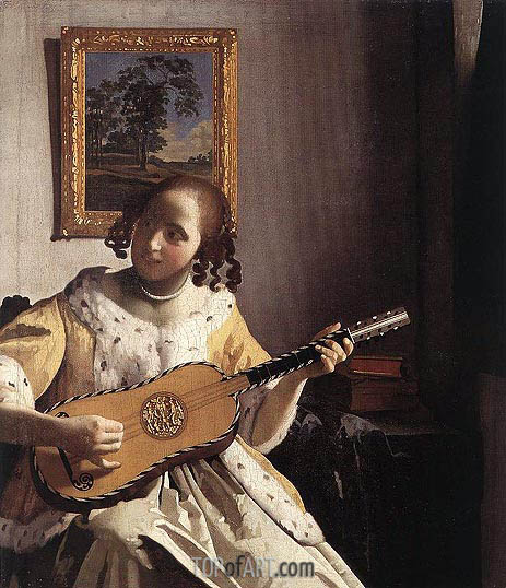 The Guitar Player, c.1670 | Vermeer| Painting Reproduction