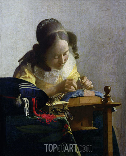 The Lacemaker, c.1669/70 | Vermeer| Painting Reproduction