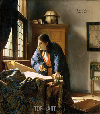 The Geographer, c.1668/69 | Vermeer| Painting Reproduction