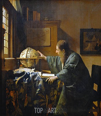 The Astronomer, 1668 | Vermeer| Painting Reproduction
