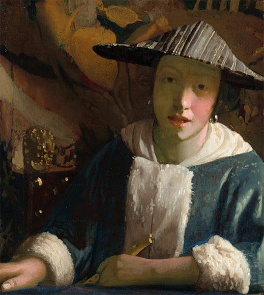 Vermeer | Young Girl with a Flute, c.1666/67