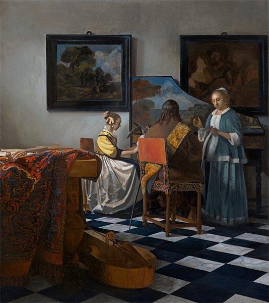 Vermeer | The Concert, c.1665/66