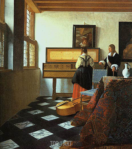 Vermeer | The Music Lesson, c.1662/65