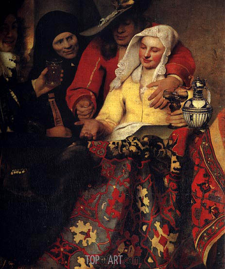The Procuress, 1656 | Vermeer| Painting Reproduction