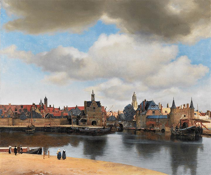 View of Delft, c.1660/61 | Vermeer| Painting Reproduction
