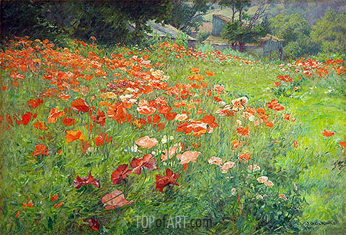 In Poppyland (Poppy Field), 1901 | John Ottis Adams| Gemälde Reproduktion
