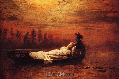 The Lady of Shalott, Undated | Grimshaw | Painting Reproduction