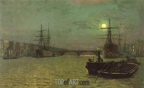 Grimshaw | London Bridge - Half Tide, 1884