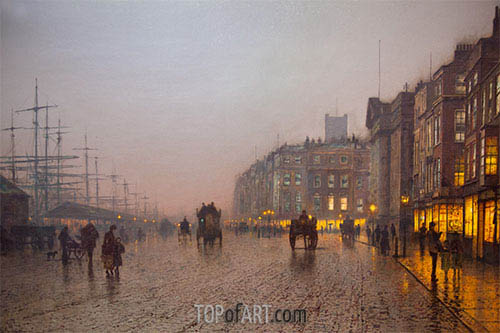 Grimshaw | Liverpool from Wapping, 1885