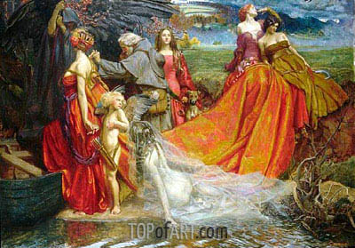 Now is the Pilgrim Year Fair Autumn's Charge, 1904 | John Byam Liston Shaw | Painting Reproduction