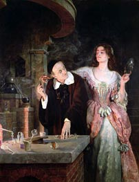 The Laboratory, 1895 by John Collier | Painting Reproduction