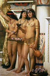 Pharaoh's Handmaidens, Undated by John Collier | Painting Reproduction