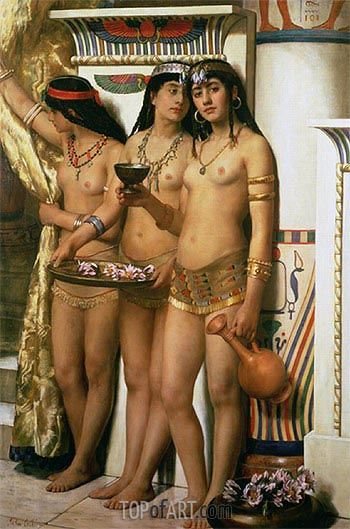 Pharaoh's Handmaidens,  | John Collier | Painting Reproduction