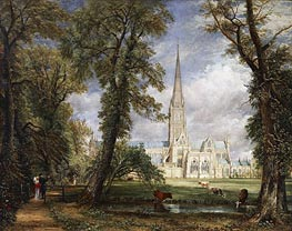 Salisbury Cathedral from the Bishop's Garden, 1826 von Constable | Gemälde-Reproduktion