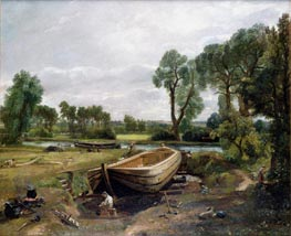 Boat Building near Flatford Mill, 1815 von Constable | Gemälde-Reproduktion