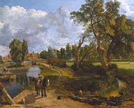 Flatford Mill (Scene on a Navigable River), c.1816/17 von Constable | Gemälde-Reproduktion