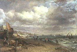 Marine Parade and Chain Pier, Brighton, c.1826/27 von Constable | Gemälde-Reproduktion