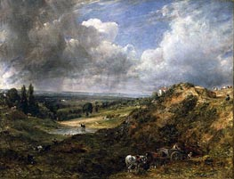 Hampstead Heath, Branch Hill Pond, 1828 von Constable | Gemälde-Reproduktion
