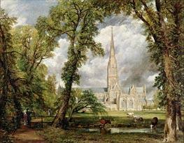 View of Salisbury Cathedral from the Bishop's Grounds | Constable | outdated