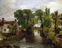 The Mill Stream, c.1814/15 von Constable | Gemälde-Reproduktion