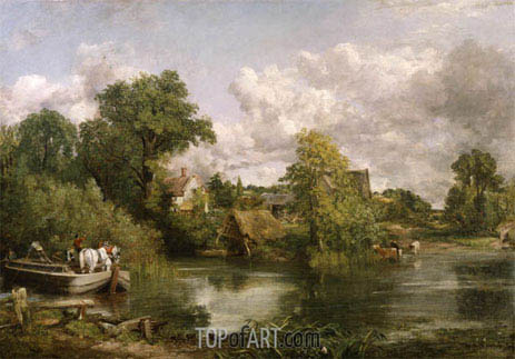 The White Horse, 1819 | Constable | Gemälde Reproduktion