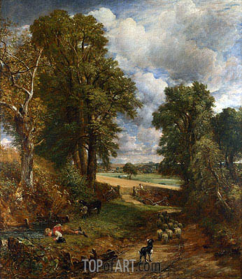 The Cornfield, 1826 | Constable| Gemälde Reproduktion