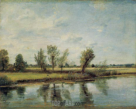 Constable | Watermeadows near Salisbury, 1829