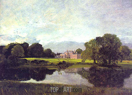 Malvern Hall, Warwickshire, 1809 | Constable | Painting Reproduction