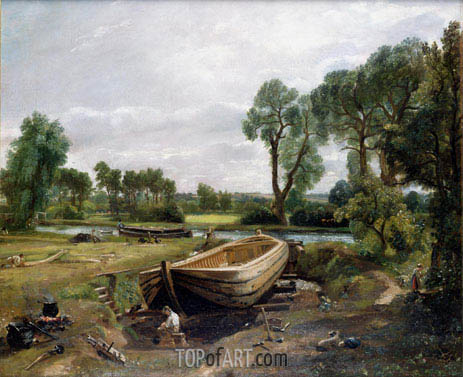 Boat Building near Flatford Mill, 1815 | Constable | Gemälde Reproduktion