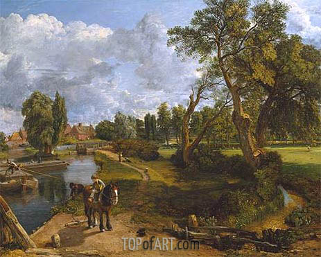 Flatford Mill (Scene on a Navigable River), c.1816/17 | Constable | Gemälde Reproduktion