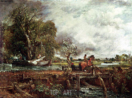 The Leaping Horse, 1825 | Constable | Gemälde Reproduktion