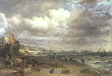 Marine Parade and Chain Pier, Brighton, c.1826/27 | Constable | Gemälde Reproduktion