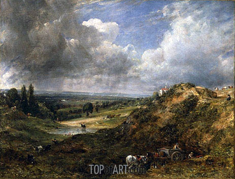 Constable | Hampstead Heath, Branch Hill Pond, 1828