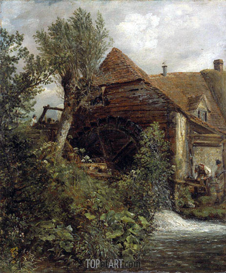 Watermill at Gillingham, Dorset, c.1823/27 | Constable | Painting Reproduction