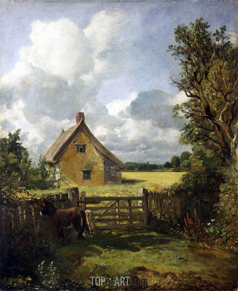 Cottage in a Cornfield, c.1833 | Constable | Painting Reproduction