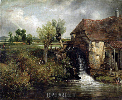 Parham's Mill, Gillingham, Dorset, 1824 | Constable | Painting Reproduction