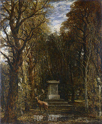 Cenotaph to the Memory of Sir Joshua Reynolds, c.1833 | Constable| Gemälde Reproduktion