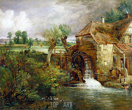 Constable | Mill at Gillingham, Dorset, c.1825/26