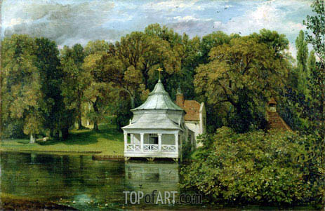 The Quarters behind Alresford Hall, 1816 | Constable | Painting Reproduction