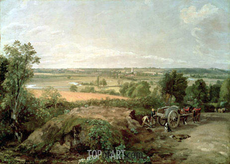 Stour Valley and Dedham Church, c.1815 | Constable | Painting Reproduction