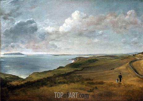 Weymouth Bay from the Downs above Osmington Mills, undated | Constable | Painting Reproduction