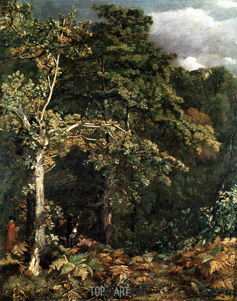 Edge of a Wood, 1801 | Constable | Painting Reproduction