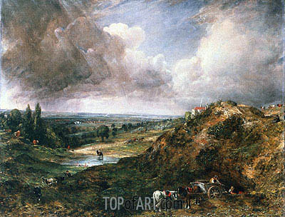 Constable | Branch Hill Pond, Hampstead, c.1828