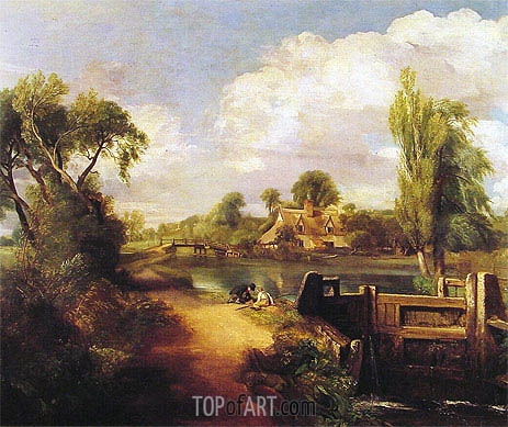 Constable | Landscape with Boys Fishing, 1813