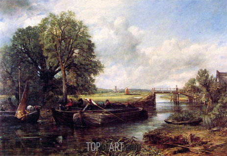 A View on the Stour near Dedham, 1822 | Constable | Gemälde Reproduktion